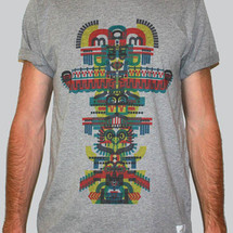 tee-shirt totem gris by c.e.r.f