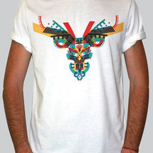 tee-shirt cerf color by c.e.r.f