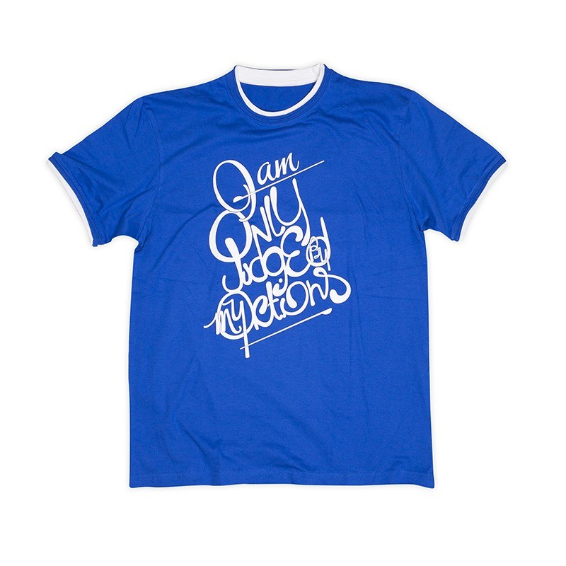 T-shirt Only Judged Bleu