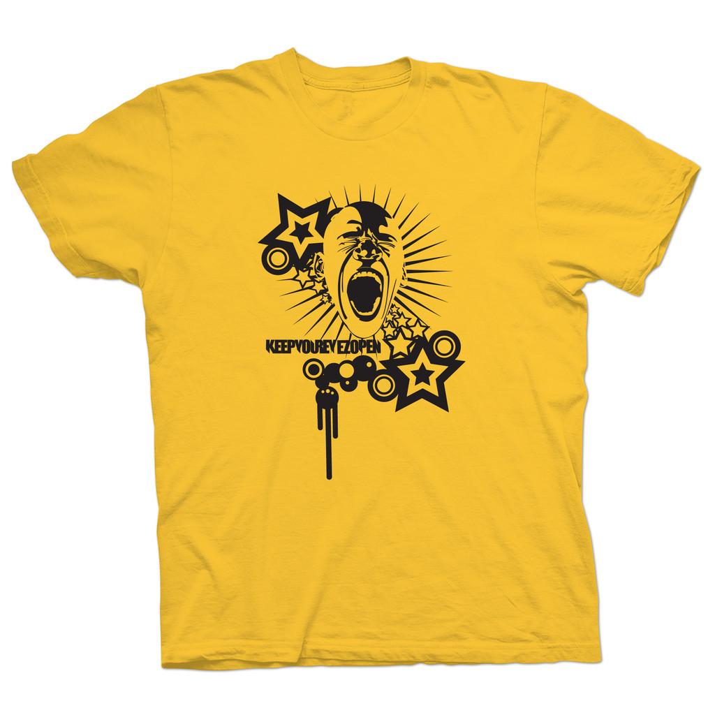 T-shirt Awake Jaune