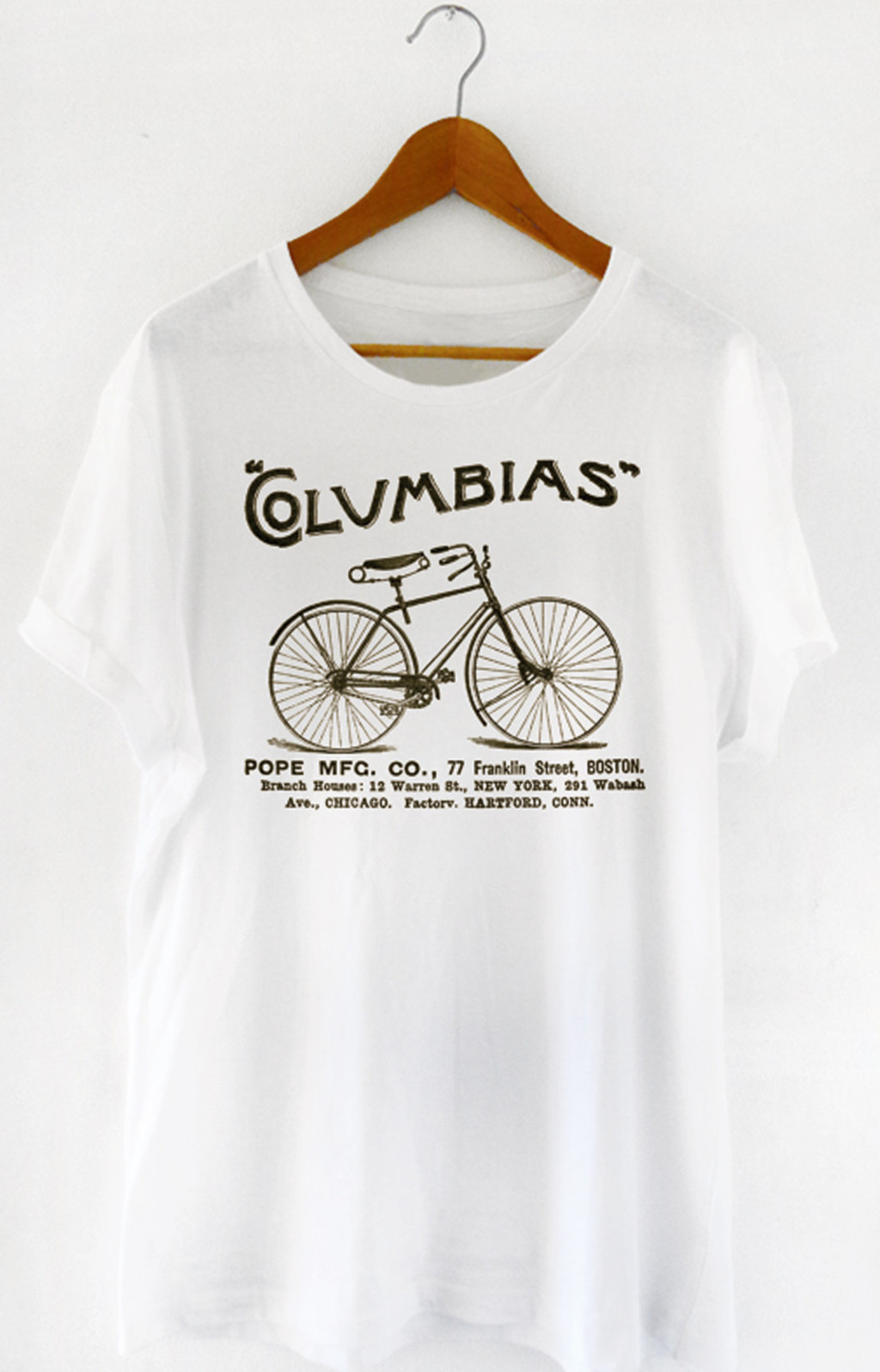 T-shirt Columbias Boston Cycle