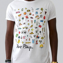 tee-shirt paris plage by c.e.r.f