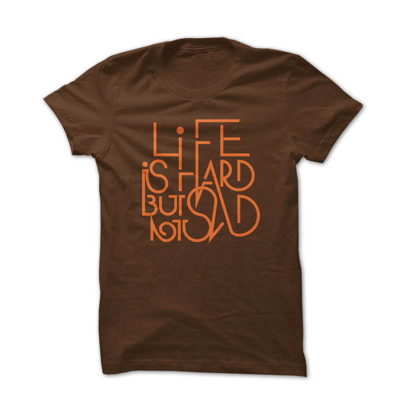 T-shirt Life Brown