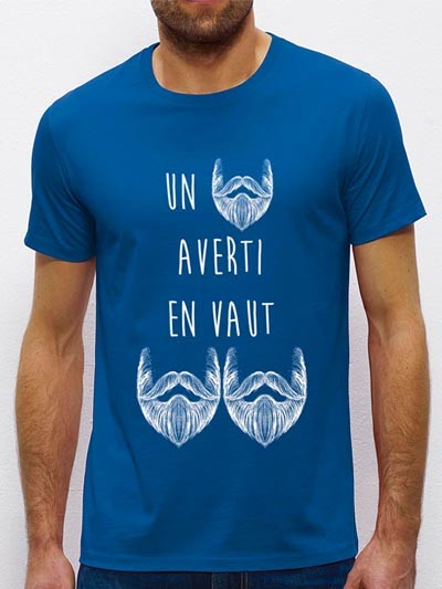 T-shirt UN BARBU AVERTI
