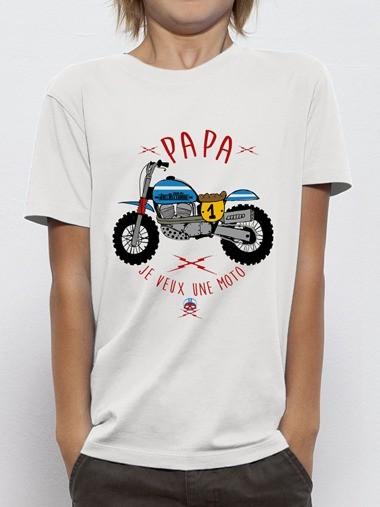 T-shirt PAPA JE VEUX UNE MOTO