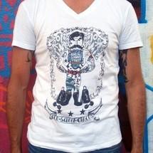 tee-shirt col v strongman by joelalexandre
