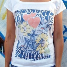 tee-shirt old school peace love - joelalexandre