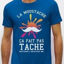 tee-shirt la moustache ca fait pas tache by joelalexandre
