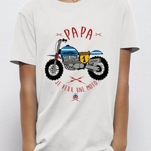 tee-shirt papa je veux une moto by joelalexandre