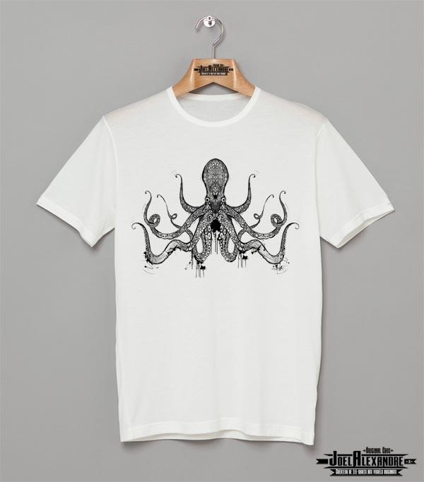 Pieuvre Shirt Joelalexandre T Blanc By Homme 5Lq3A4Rj
