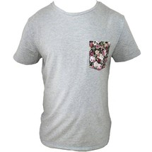tee-shirt poche floral sérré. by frenchcool