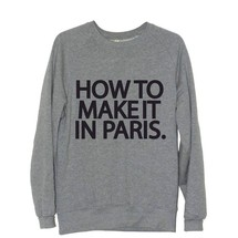 sweat-shirt how to make it in paris. - frenchcool