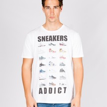 tee-shirt sneakers addict by mathrow