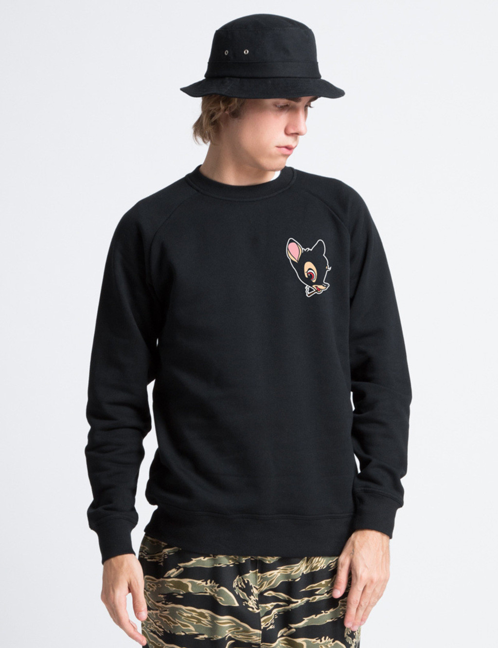 Sweat-Shirt BLACK-BAMBI