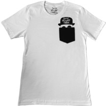 tee-shirt suave skull pocket - social misfit clothing