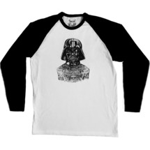 tee-shirt manche longue tattooed darth baseball tee - social misfit clothing