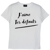 tee-shirt j'aime tes défauts by frenchcool