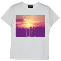 tee-shirt sunrise life - frenchcool