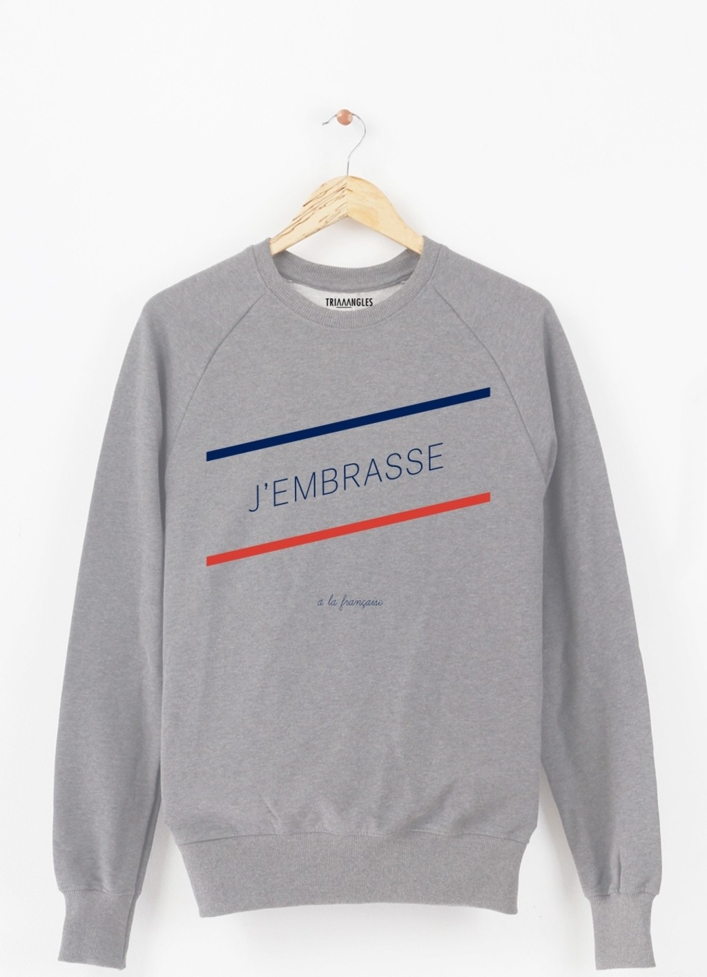 Sweat-Shirt J'EMBRASSE A LA FRANCAISE