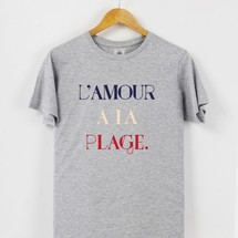 tee-shirt l'amour a la plage by triaaangles