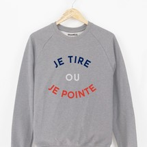sweat-shirt je tire ou je pointe by triaaangles