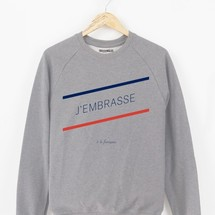 sweat-shirt j'embrasse a la francaise by triaaangles