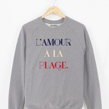 sweat-shirt l'amour a la plage by triaaangles