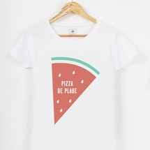 tee-shirt pizza de plage by triaaangles