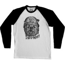 tee-shirt benny the bear baseball tee - social misfit clothing