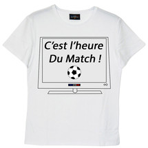 tee-shirt c'est l'heure du match ! by frenchcool