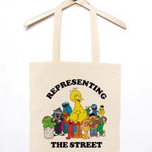 tote bag tote bag representing the street - mathrow
