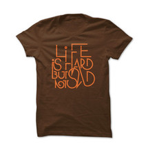 tee-shirt life brown by gazmasta