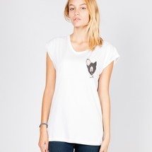 tee-shirt black bambi by mathrow