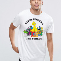 tee-shirt representing the street by mathrow