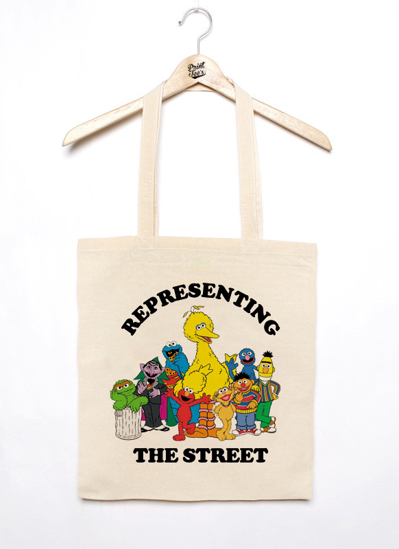 Tote Bag TOTE BAG REPRESENTING THE STREET