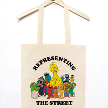 tote bag tote bag representing the street - mathrow