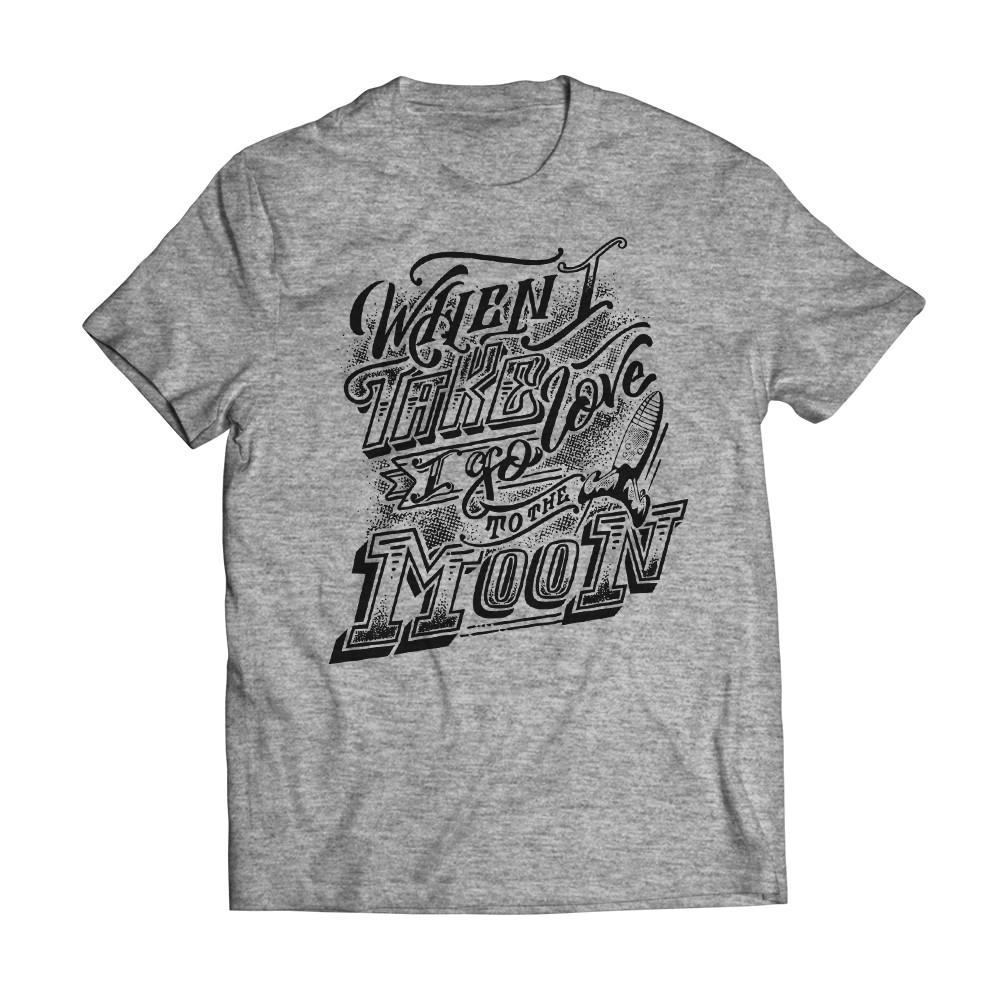 T-shirt Moon Grey